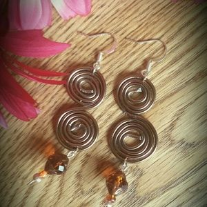 Artisan Designed Antiqued Brass Statement Earrings